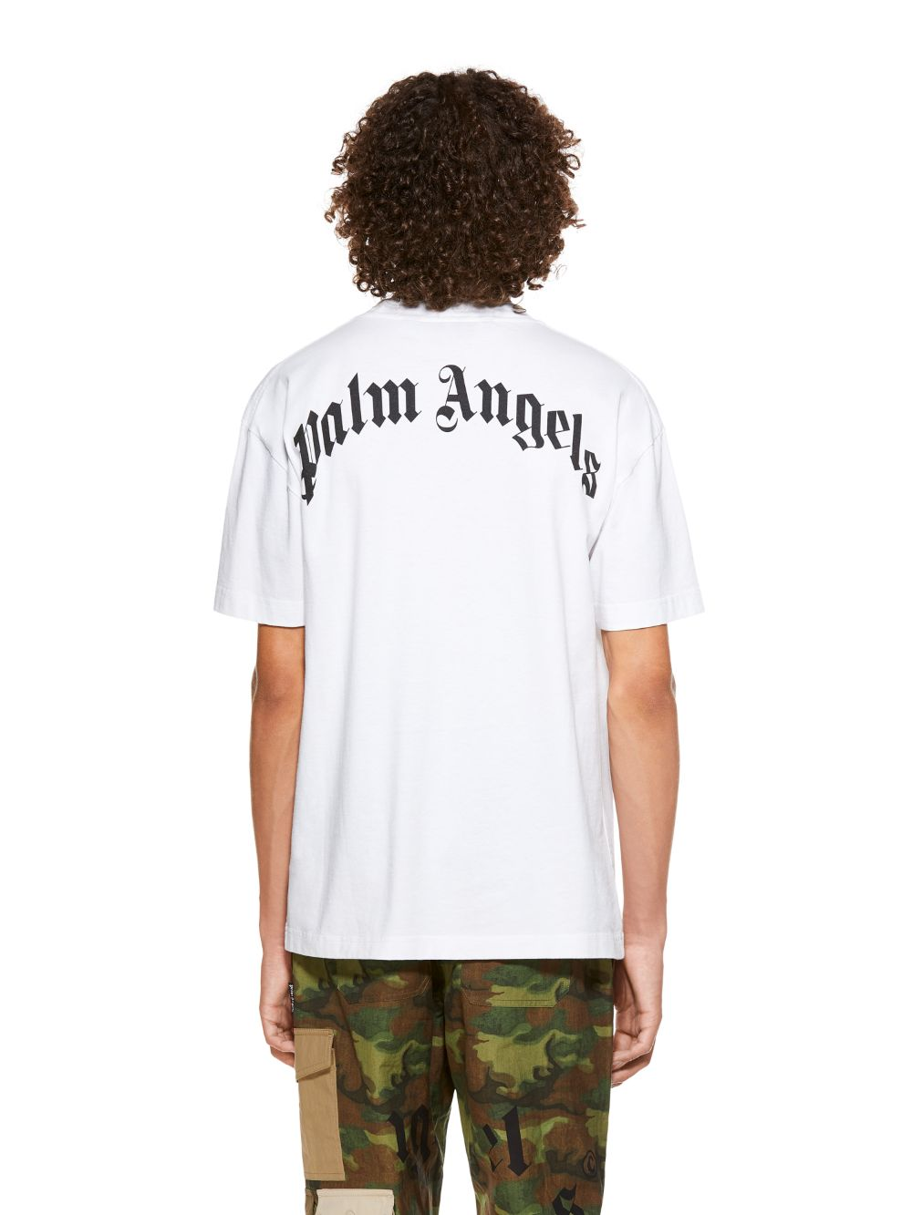 Picture of Palm Angels | CROCO TEE WHITE GREEN